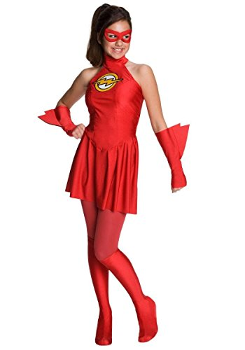 Flash Superheld Kostüm für Mädchen - rot - Gr. L (140)