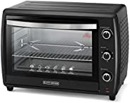 Black+Decker 70L Double Glass Multifunction Toaster Oven with Rotisserie for Toasting/ Baking/ Broiling, Black