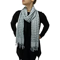Women's Scarf Ladies Shawl Wrap – Box Weave Design - Handmade with a Free Hanger – Available in 2 Unique Colours