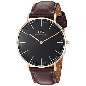Daniel Wellington Classic Bristol Reloj Marrón Oscuro Oro Rosado 36mm