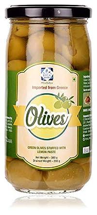RYCA Green Olives Stuffed with Lemon Paste, 380g