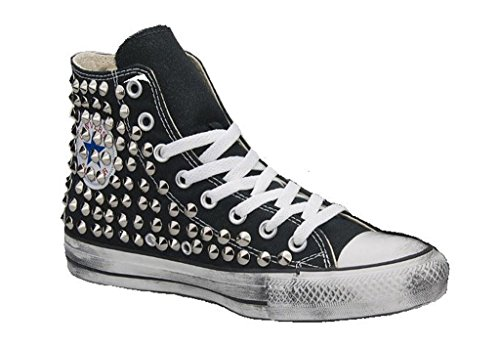 converse all star nera borchiate