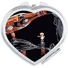DIYthinker Cubitera de hielo de cristal para decoración de fondo negro, diseño de corazón,