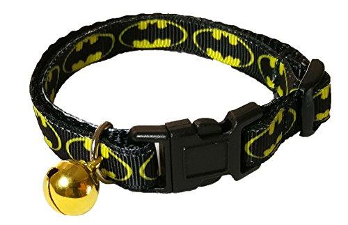Spoilt Rotten Pets - BATMAN DESIGN - Could Your Cat Be Batman's Side Kick - Super Hero Design Bat Cat Collar. Safety Buckle, Designed & Made In The UK