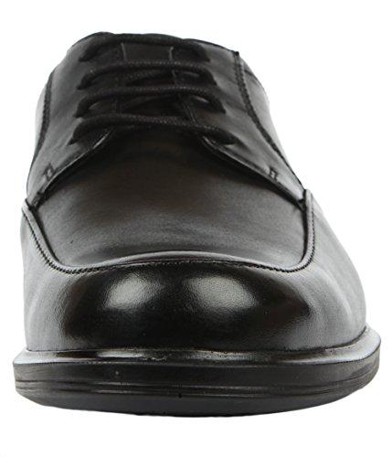 Clarks Gabson Apron Herren Brogue Schnürhalbschuhe Schwarz (Black Leather)