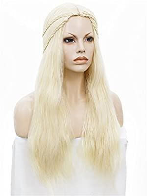 ASVP Shop® Cosplay Costume Wig for Game of Thrones Daenerys Targaryen Fancy Dress Costume Party Accessory