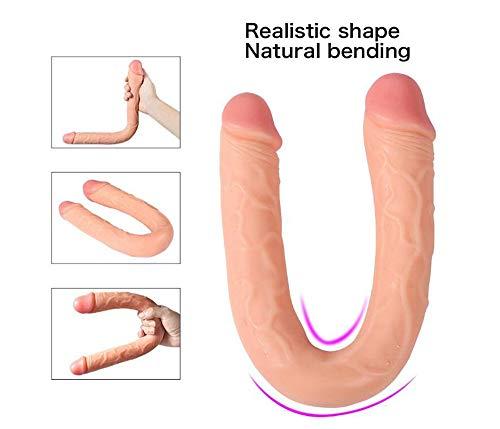 Spielzeug für Frauen 18 Zoll Super Lange Doppelkopf Massagestab Flexible Weibliche Entspannen Ganzkörpermassager Spielzeug, Design Lebensechte Monster