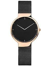 e5d3785aac84 Dyfzxy Reloj Deportivo para Mujer Reloj Casual Moda Simple Lujo Reloj de  Cuarzo Correa de Malla