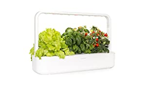 Click and Grow Smart Garden 9 Indoor Gardening Kit (Includes 3 Mini Tomato, 3 Basil and 3 Green Lettuce Plant pods), White