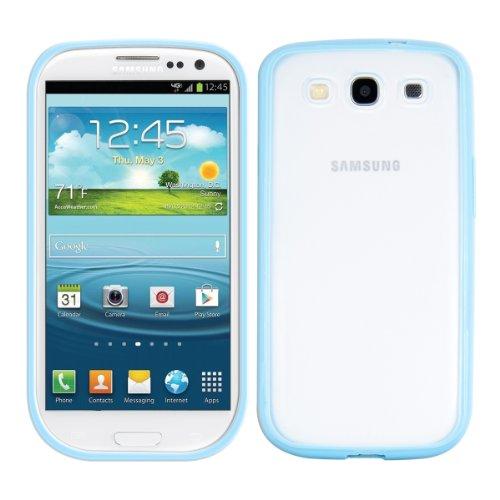 kwmobile Schutzhülle passend für Samsung Galaxy S3 / S3 Neo - Case mit transparenter Rückseite aus PC und TPU Rahmen - [blau]