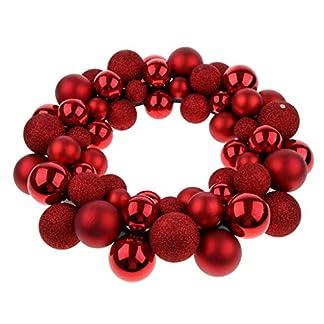 Tubayia-Glitzer-Kugelkranz-Weihnachtsbaum-Ball-Kranz-Dekokranz-fr-Weihnachten