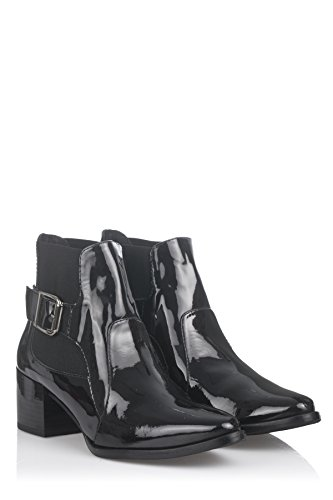 Laura Moretti Damen Buckle Booty Booties Grün