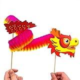 Gaocheng 3 Pack Fai-da-Te 3D Giocattoli Volanti di Carta da Ballo Cinese Draghi per Bambini Fai-da-Te Giocattoli creativi
