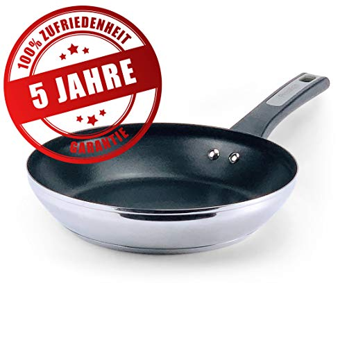 Prestige Pfanne Induktion 30 cm - XL Bratpfanne mit 5 Jahren Garantie, Edelstahl, Antihaft beschichtet | Beschichtete Bratpfannen für alle Herdarten (inkl. Induktionsherd)