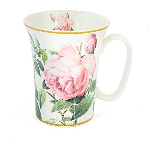 Rosa Fiore Tazza di porcellana a forma di tromba The