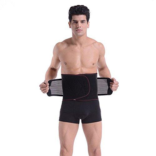 HL - Da die Hitze Riemen Riemen selbst Heizung warme Luft Turmalin health care Taille Halterung Gürtel Taille, schwarz, XL