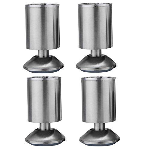 FCXBQ Möbel, Edelstahl, rund, für Kleiderschrank, Sofa, etc, Verstellbereich von 10 mm, 20cm(7.87in)