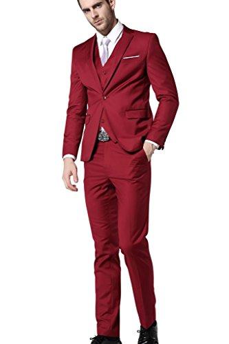 HZMK - Costume - Homme rojo oscuro