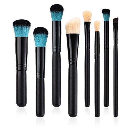 Pinceaux Maquillages Professionnel Kit de 8pcs, Pinceau Poudre Blush Maquillage Cosmétique Brosses Outil WUDUBE
