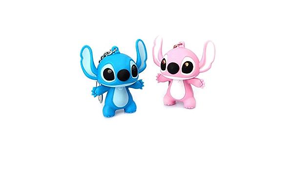 """Lilo /& Stitch Stitch Keychain Blue Stitch LED Light Up With Sound 2"""" Xmas Gift"""