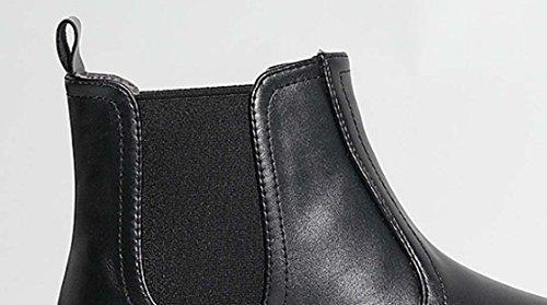 Boot di Chelsea in stile Inghilterra di stile Boot Soft Tendon Bottom Classico Mid Calf Boot Black