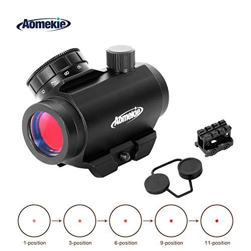 Aomekie Viseur Point Rouge 3 MOA 1x20mm HD Lunettes de Visée étanche au Brouillard pour un Montage sur Rail Weaver / Picatinny de 20mm(AO5036)