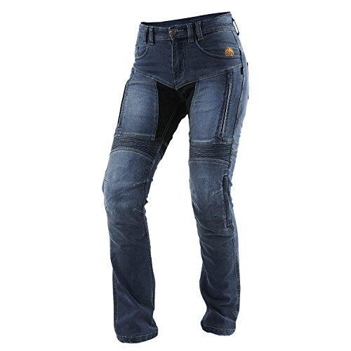 Tril obite agnox Femme Jeans moto étanche - Bleu