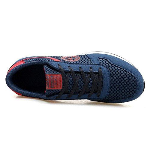 Zapatillas De Deporte Transpirables Zapatillas De Deporte De Moda Zapatillas De Deporte Al Aire Libre Zapatillas De Ballet Zapatos Ligeros De Gran Tamaño Casual Euro Talla 35-47 Azul