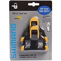 Shimano SM-SH11, Tacchette Pedali Strada Unisex Adulto, Nero/Giallo, 6°