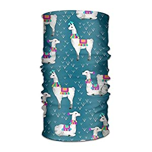 RGFJJE Sturmhauben Cartoon Llamas Pattern Headwear for Men and Women-Yoga Sports Travel Workout Wide Headbands,Neck Gaiter,Bandana,Helmet Liner,Balaclava,Hair Turban,Scarf