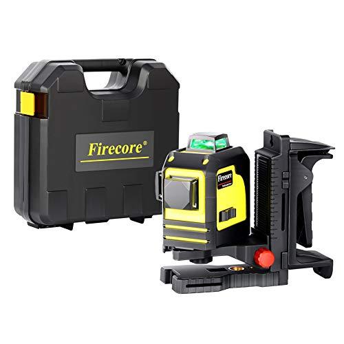 Firecore Professional F93TG Multilinienlaser 3x360° Laserdioden Farbe grün mit Puls Modus (Wandhalterung, Batterien und Transportkoffer) -