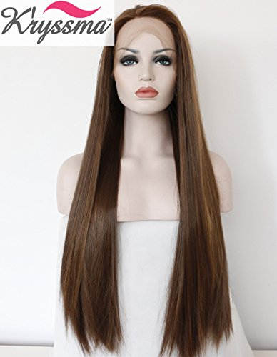 kryssma-long-straight-synthetic-hair-highlights-brown-glueless-lace-front-wigs-for-women-heat-resist