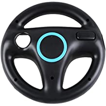Volante - TOOGOO(R) Nuevo negro Volante para Wii Mario Kart juego de carreras [Electronico]