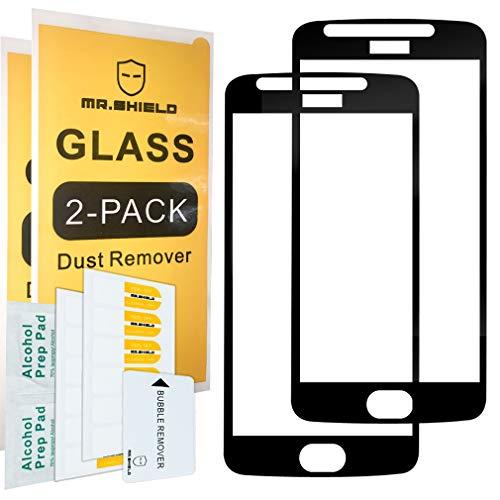[2er Pack] -mr Schild für Motorola Moto E4/Moto E (4. Generation) [Japan-Sicherheitsglas] [9H Härte] [Full Screen Kleber Cover] Displayschutzfolie mit Lebenslange Umtausch-Garantie -