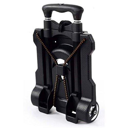 Zantec Portable Aluminium faltender Hand-LKW-Einkauf Lebensmittelgeschäft-faltbarer Wagen-Flachbett-Transportwagen-Gepäcklaufkatze mit elastischer - Lkw Lebensmittelgeschäft