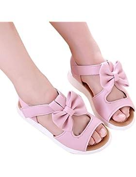 Malloom Verano Sandalias para 1-6T Chicas, Planas Sandalias Moda Bowknot Niñas Plana Princesa Zapatos Calzado