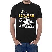 T-shirt uomo divertente LA BIRRA NON GONFIA