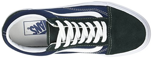 Vans Old Skool Suede/Canvas, Sneaker Unisex-Adulto Verde (2-tone/ Scarab/dress Blues)