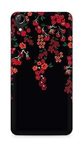 Amez designer printed 3d premium high quality back case cover forHTC Desire 728 (floral black red )