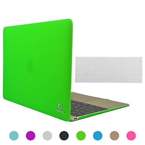 Caso di Macbook 12 pollici, Forito plastica Soft-Touch Custodia rigida per Apple il nuovo Macbook 12 pollici Display Retina A1534, 2 in 1 Multi colori gommato di Hard Cover in silicone + Coperchio tastiera (verde)