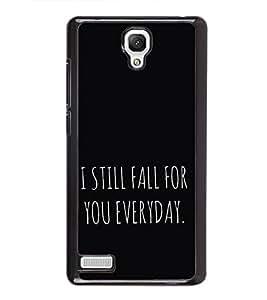 Love Quote 2D Hard Polycarbonate Designer Back Case Cover for Xiaomi Redmi Note :: Xiaomi Redmi Note 4G