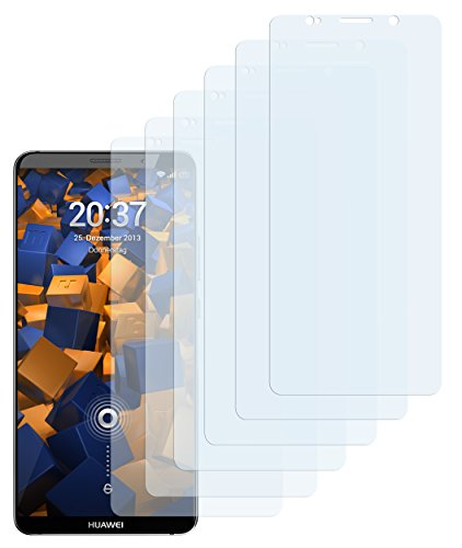 mumbi Schutzfolie kompatibel mit Huawei Mate 10 Pro Folie klar, Displayschutzfolie (6x)