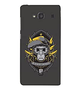 EPICCASE Blackout Monkey Mobile Back Case Cover For Mi Redmi 2 (Designer Case)