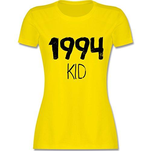 Shirtracer Geburtstag - 1994 Kid - Damen T-Shirt Rundhals Lemon Gelb