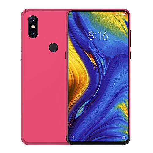 TBOC Funda de Gel TPU Rosa para Xiaomi Mi Mix 3 [6.29 Pulgadas] Carcasa de Silicona Ultrafina y Flexible para Teléfono Móvil [No es Compatible con el Xiaomi Mi MAX 3]