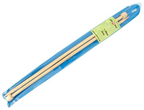 maDDma  1 Paar Bambus-Stricknadeln Größe 7mm gerade 35cm Holz-Stricknadel kaufen Natur