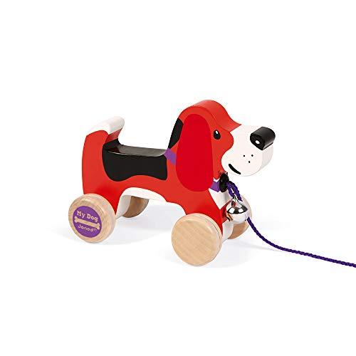 Janod - Beagle My Dog Perrito de madera para Pasear (J08215)