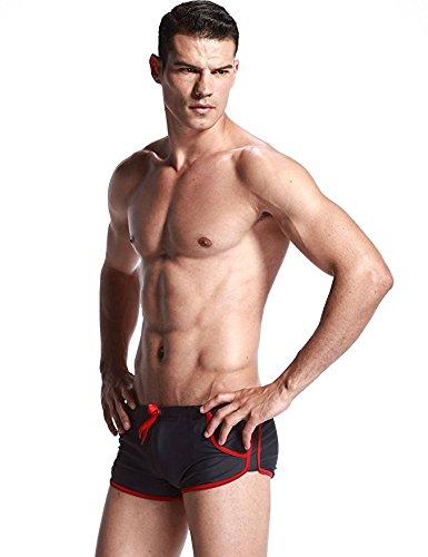 Herren Badehose Endurance+ Seil Taille Design Schwimmen Slips Mode Urlaub Strand-Shorts Sommer Grau