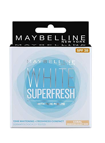 Glamorous Mart - Maybelline New York Weiß Super Frisch Compact Coral, 8g