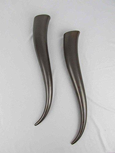 Wandvase 2 Stück Horn Wikinger Heidentum geformt wie Trinkhorn oder Signalhorn